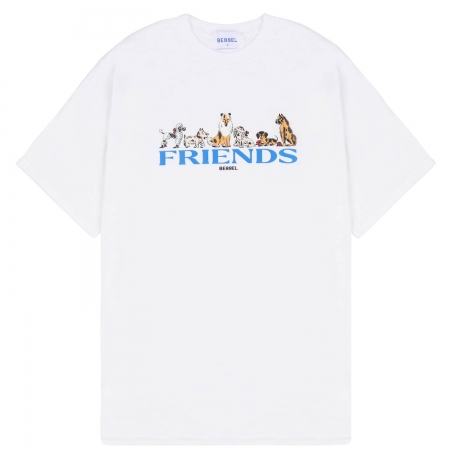 DOGS FRIENDS WHITE