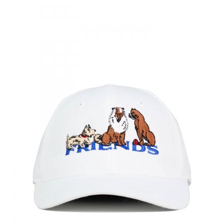 DOGS FRIENDS CAP WHITE