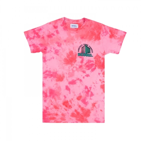 Corners Boy's Tee Tie Dye Pink