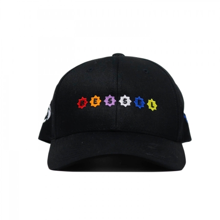 Stars Clip Cap Black