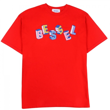 Baile Bloque Tee Red