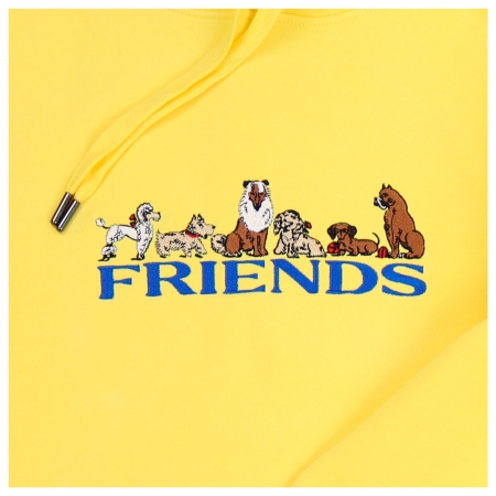 REAL FRIENDS HOODIE YELLOW