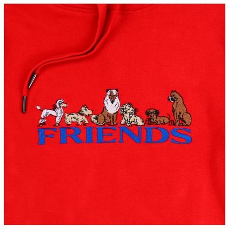 REAL FRIENDS HOODIE RED