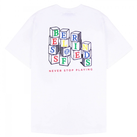 NEVER STOP PLAYING TEE WHITE